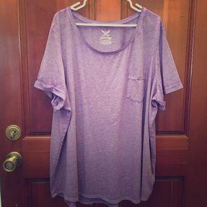 💜FADED GLORY Purple Pocket T-Shirt